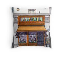 the sweetie shop Throw Pillow