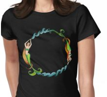 Mermaid Circle Womens Fitted T-Shirt