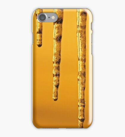 Icicles Snow Yellow Night Light iPhone Case/Skin