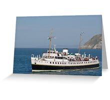 MV Balmoral at Llandudno  Greeting Card