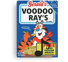 VOODOO RAY'S CEREAL BOX Canvas Print