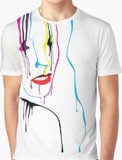 Woman Paint Drips Portrait Graphic T-Shirt
