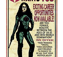 Cobra Recruiting poster Featuring the Baroness (G.I. Joe) by riogirl9909