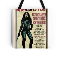 Cobra Recruiting poster Featuring the Baroness (G.I. Joe) Tote Bag