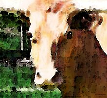 Abstract Cow by Sharon Cummings