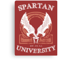 Spartan University [God of War] Canvas Print