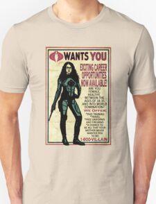 Cobra Recruiting poster Featuring the Baroness (G.I. Joe) T-Shirt