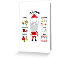 Santa Claus and His Essentials Greeting Card