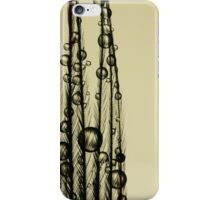 Charcoal Feather Drops iPhone Case/Skin