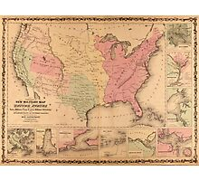 Johnson's New Illustrated Military United States Map (1862) Photographic Print