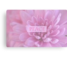 Peace In Pink  Canvas Print