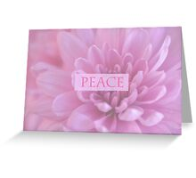 Peace In Pink  Greeting Card