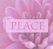 Peace In Pink  Sticker