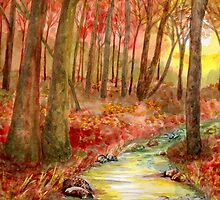 Autumn Forest  by Kerry Cillo