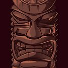 Wooden Tiki Statue Totem Sculpture iPhone 5 / iPhone 4 Case by CroDesign
