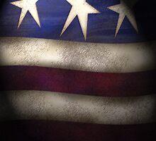 Americana, Red, White & Blue Grunge iPad Case by Cherie Balowski
