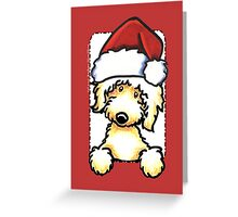 Yellow Labradoodle Christmas Greeting Greeting Card