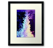 Into The Night Purple Art Framed Print