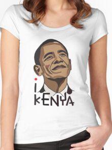 I LOVE KENYA T-shirt Women's Fitted Scoop T-Shirt