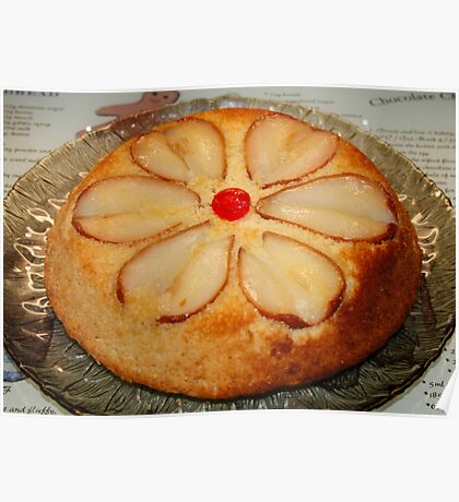 Pear & Almond Upside Down Cake Poster