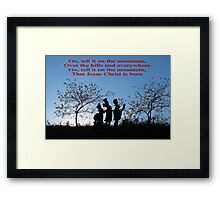 Vintage Carol - Go Tell It on the Mountain Framed Print