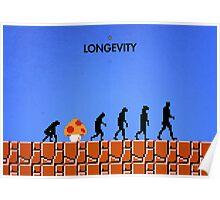 99 Steps of Progress - Longevity Poster