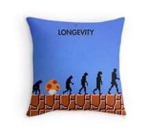 99 Steps of Progress - Longevity Throw Pillow