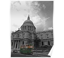 Harrods Routemaster at St Pauls Poster