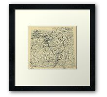 March 31 1945 World War II HQ Twelfth Army Group situation map Framed Print