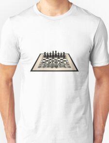 Chessboard & Chess Pieces Unisex T-Shirt