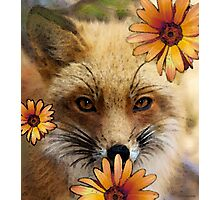 Fox Art - Flower Girl Photographic Print