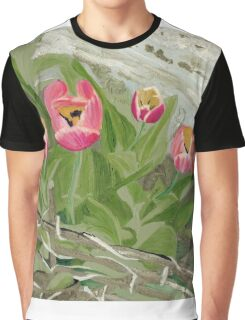 Backyard Tulips Graphic T-Shirt