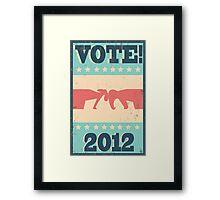 Vote 2012 Framed Print