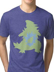 PKMN Silhouette - Larvitar Family Tri-blend T-Shirt