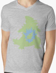 PKMN Silhouette - Larvitar Family Mens V-Neck T-Shirt