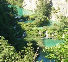 The view of the Plitvice lakes II. by Eva Nováková