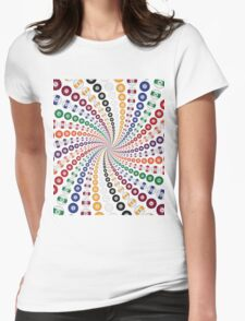Billiards / Pool Balls Spiral Womens Fitted T-Shirt