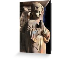 Praying angel greetings card Greeting Card
