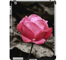 One Pink Rose iPad Case/Skin