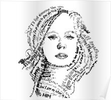 Adele typography Poster
