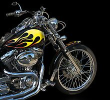 H D Dyna Twin Motorcycle 4 by DaveKoontz