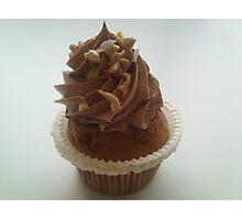 Nutella and praline cupcake Photographic Print