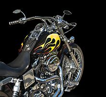 H D Dyna Twin Motorcycle 5 by DaveKoontz