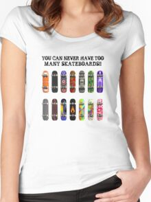 Too Many Skateboards! Women's Fitted Scoop T-Shirt