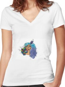 Fanciful  Women's Fitted V-Neck T-Shirt
