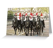 All the Queens Horses Greeting Card