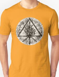 ANCIENT FIRE SYMBOL - extreme white distress T-Shirt