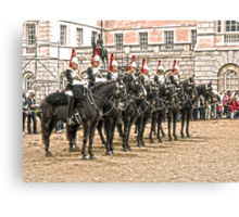 The Queens Blue Horseguards Canvas Print