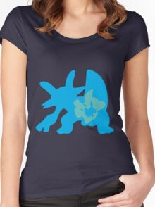 PKMN Silhouette - Mudkip Family Women's Fitted Scoop T-Shirt