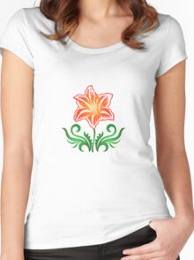Vector Flower & Flourishes Women's Fitted Scoop T-Shirt